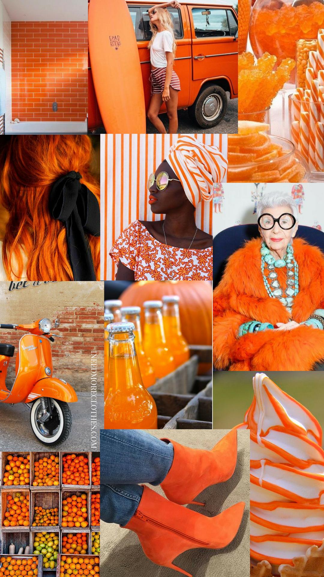 Orange Jordan Wallpaper Aesthetic