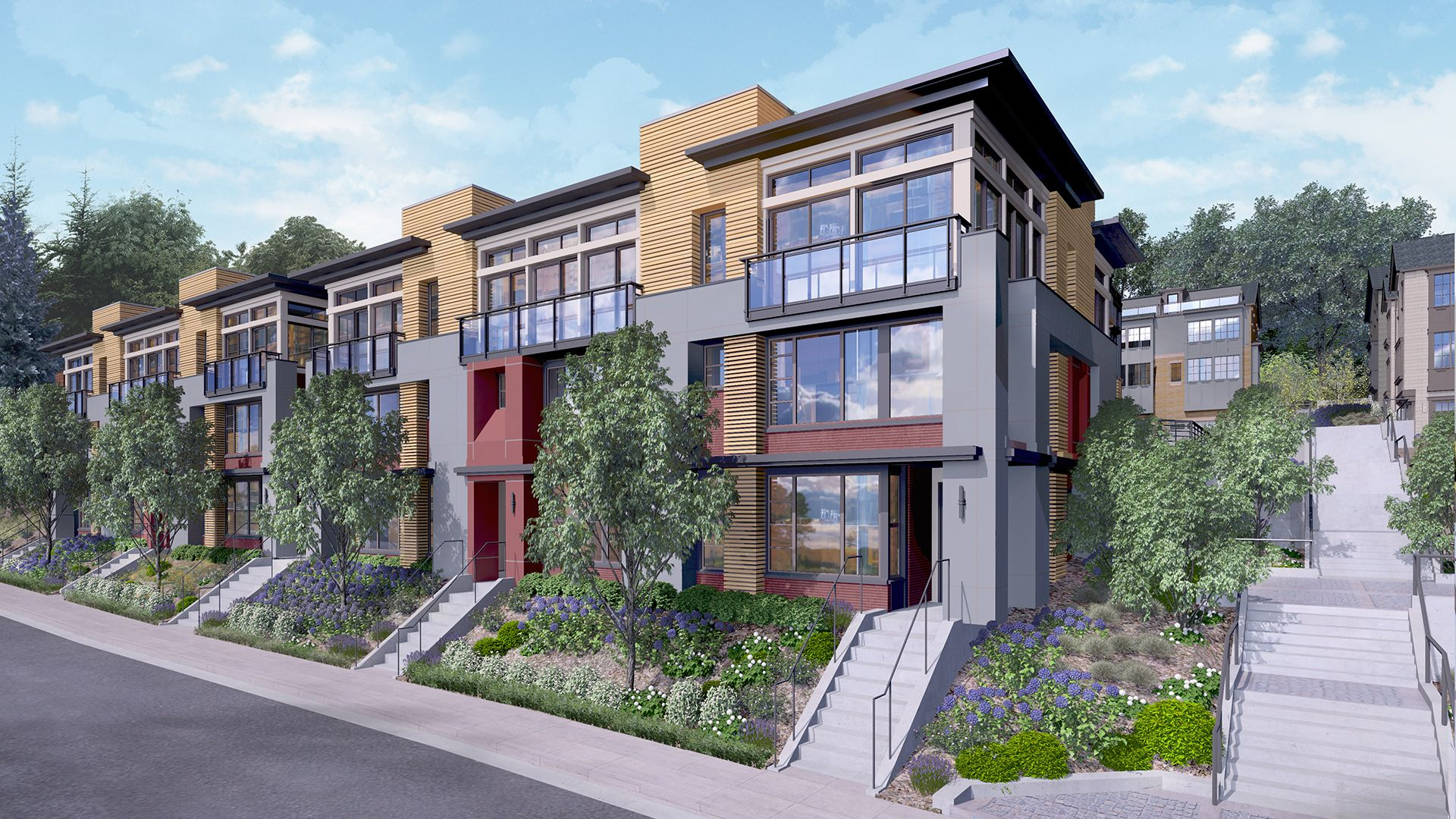 Seattle Wa New Construction Homes Mcgraw Square At Queen Anne Townhouse Urban Living Toll Brothers