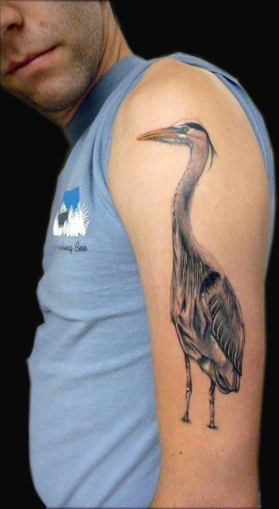 Goyo Tattoo - Portland, OR, United States. A Great Blue Heron. | My ...