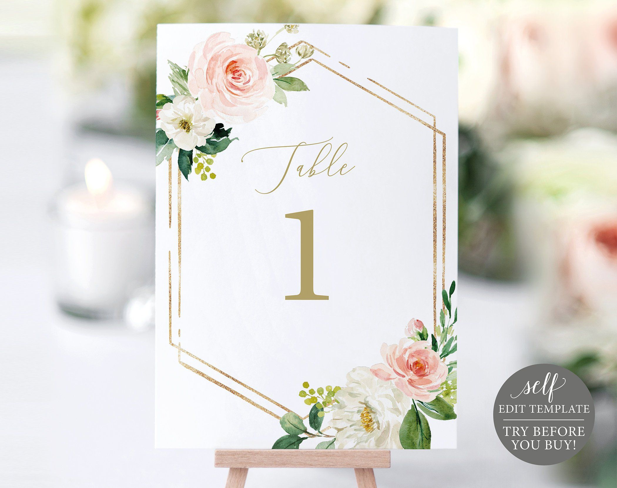 Table Number Template Try Before You Buy Editable Instant Etsy Wedding Invitations Printable Templates Wedding Invitation Templates Invitations