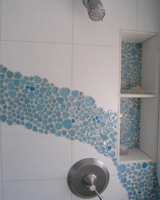I love sea i love blue bubble glass mosaic tiles century