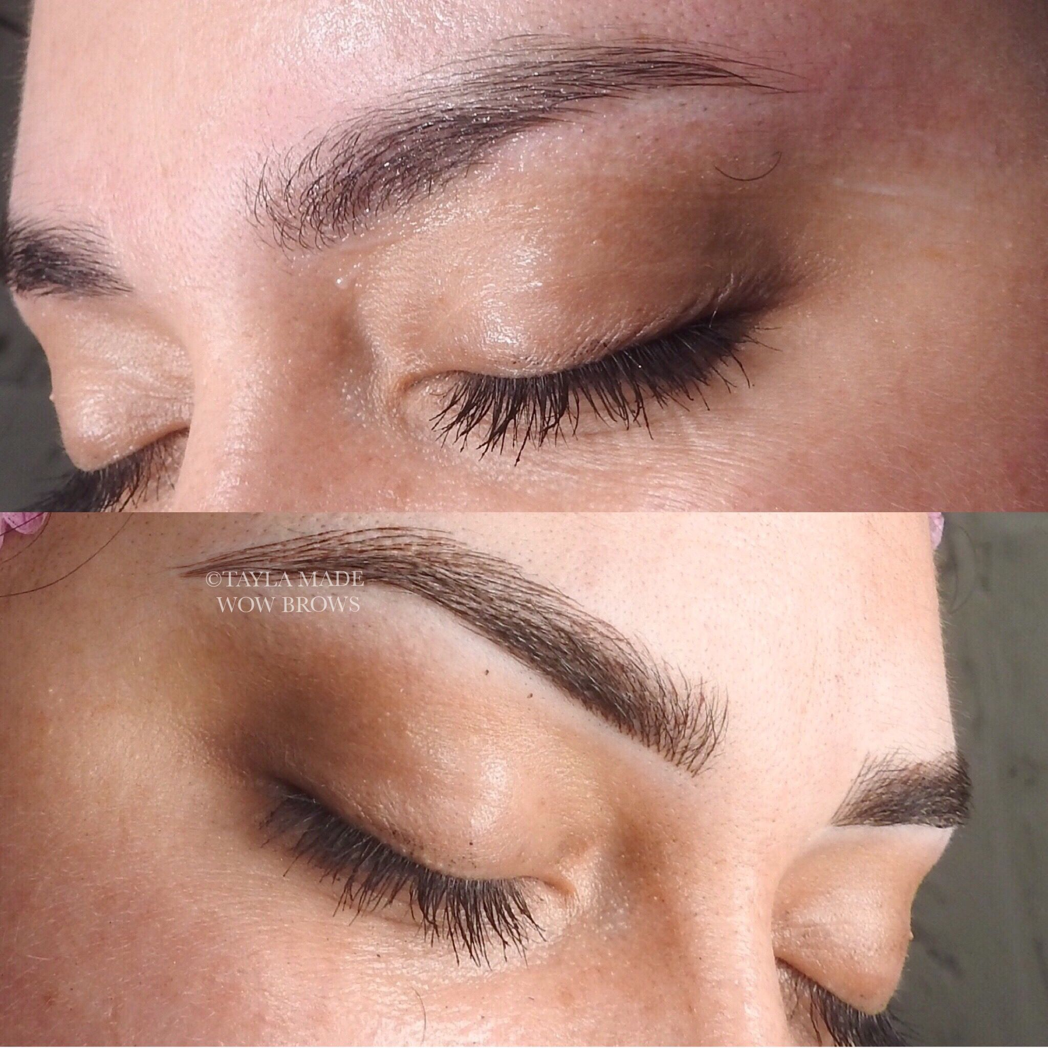Hair Stroke Feather Touch Microblading Microstroke Tattooed ...