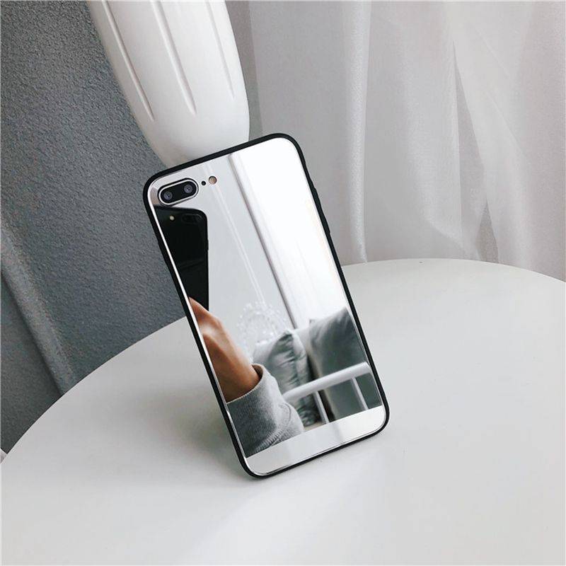 INSNIC Luxury Full Mirror Silicone Case for iPhone