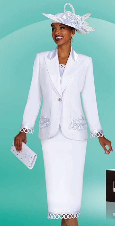 ebony ladies dress suits | White Church Suits for Women BenMarc ...
