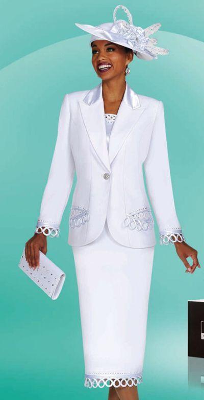 ebony ladies dress suits | White Church Suits for Women BenMarc ...