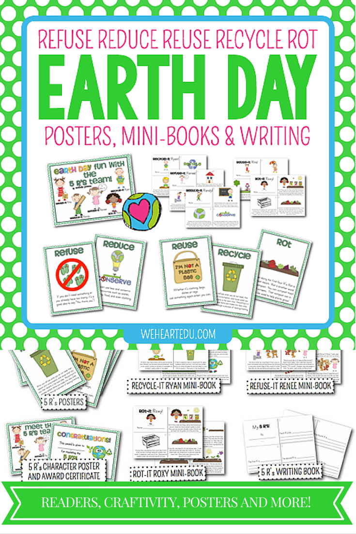 Reduce reuse recycle activities - Earth Day Earth Day Activitiesspring Activitiesearth Day Posterswaste Reductionreduce Reuse Recyclecompostmini