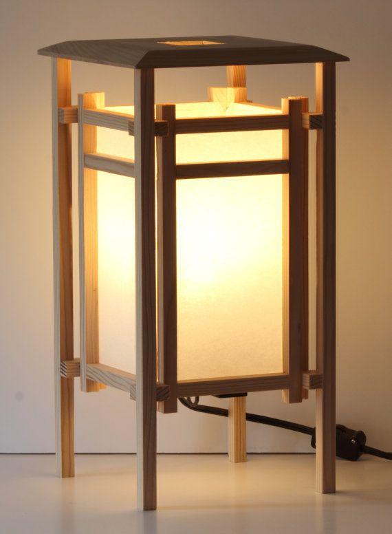 Japanese Style Shoji Lantern Table Lamp By Barnkatdesigns On Etsy