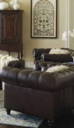 Attractive Barrow Chesterfield Leather Furniture Collection