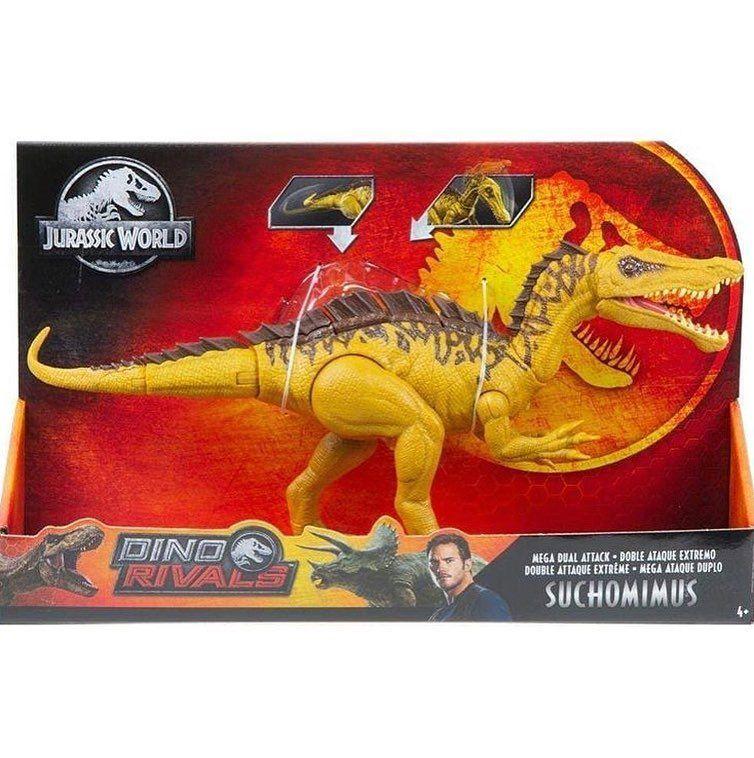 Mattel-Jurassic World Dino rival doble-ataque-Triceratops-dinosaurio