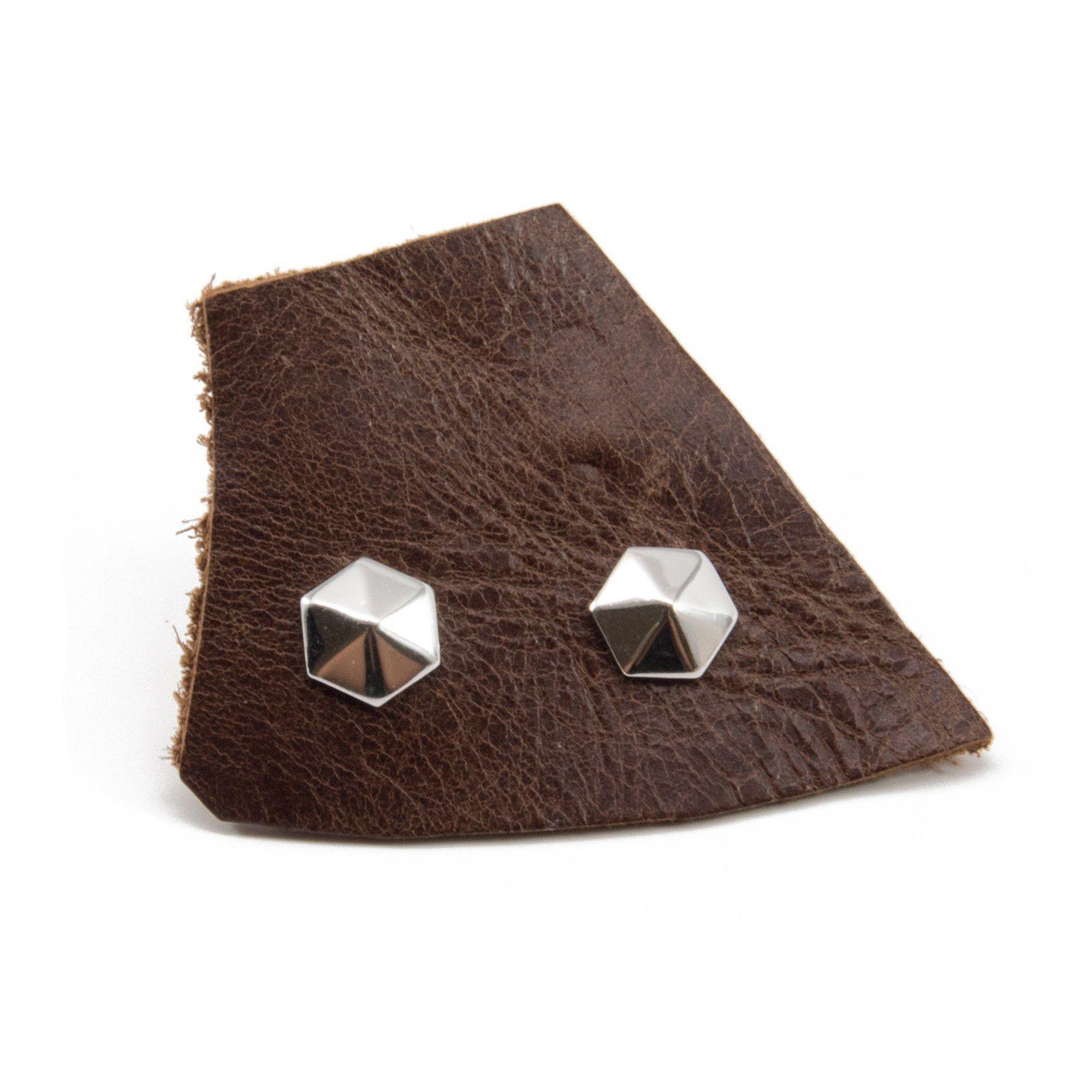 Lifted Hexagon Studs