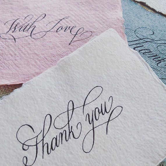 Custom calligraphy for thank you cards birthday cards wedding custom calligraphy for thank you cards birthday cards wedding cards greeting cards flower cards get well cards on cotton rag paper uk m4hsunfo