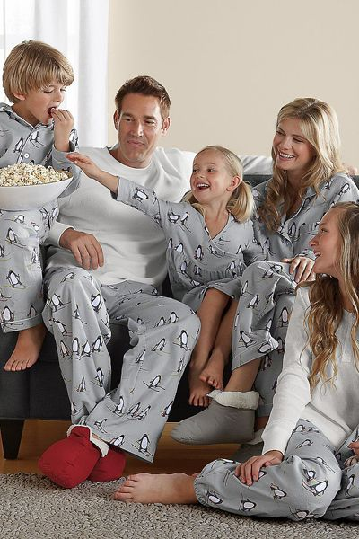Ski School Penguin Family Pajamas | ❤Pjs❤ | Pinterest ...