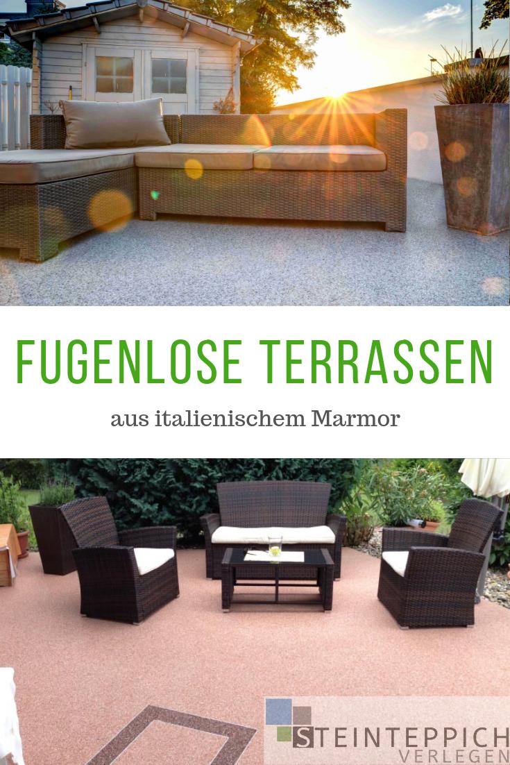 Fugenlose Steinteppich Terrassen Ideen Der Gestaltung Terrasse Bodenbelag Terrasse Terrassenbelag