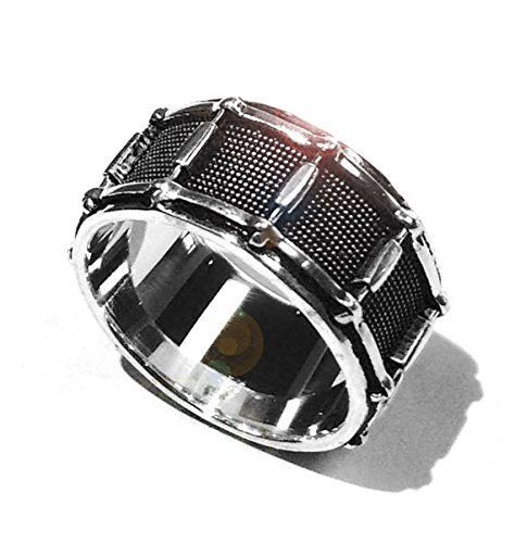 Sterling Silver Snare Drum Ring