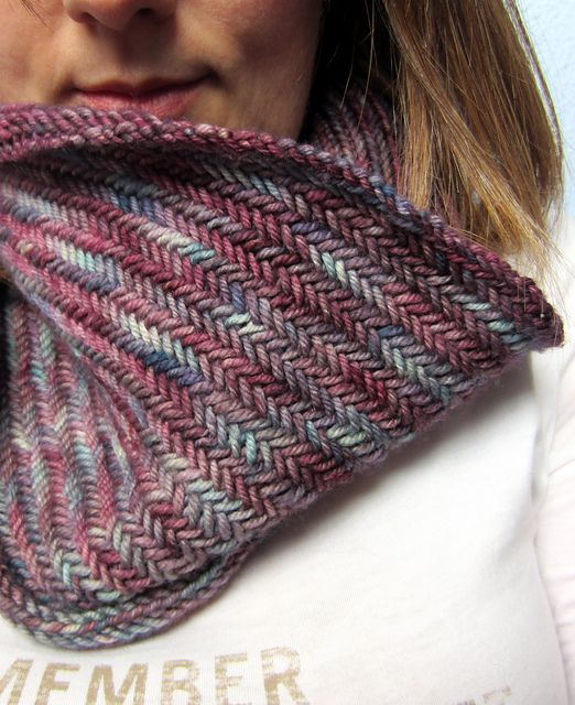 Big Herringbone Cowl by Purl Soho malabrigo Rios in Lotus | Free ...
