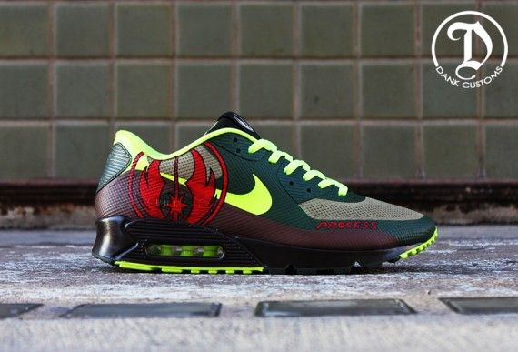 0c26fff37ca1 Nike Air Max 90 Hyperfuse Jedi by Dank Customs