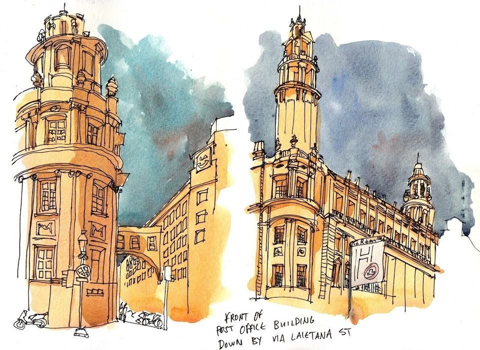 The back and front of the post office down by Via Laietana Street, Barcelona | Parka Blogs