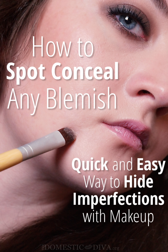 The Quick and Easy Way to Spot Conceal a Blemish, Acne
