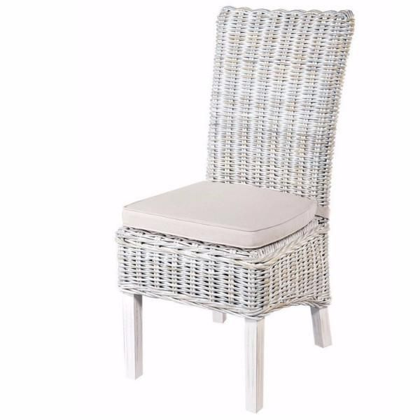 The Whitewash Rattan Dining Chairs Offer The Perfect Blend Of Materials.  The Chairs Are Constructed