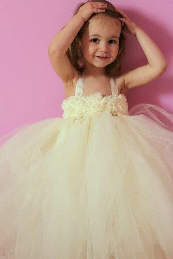 "The ""Valentina"" Dress......Ivory Flower Girl Tutu Dress... Pageant Dress...... Photo Shoot on Etsy, $60.00"