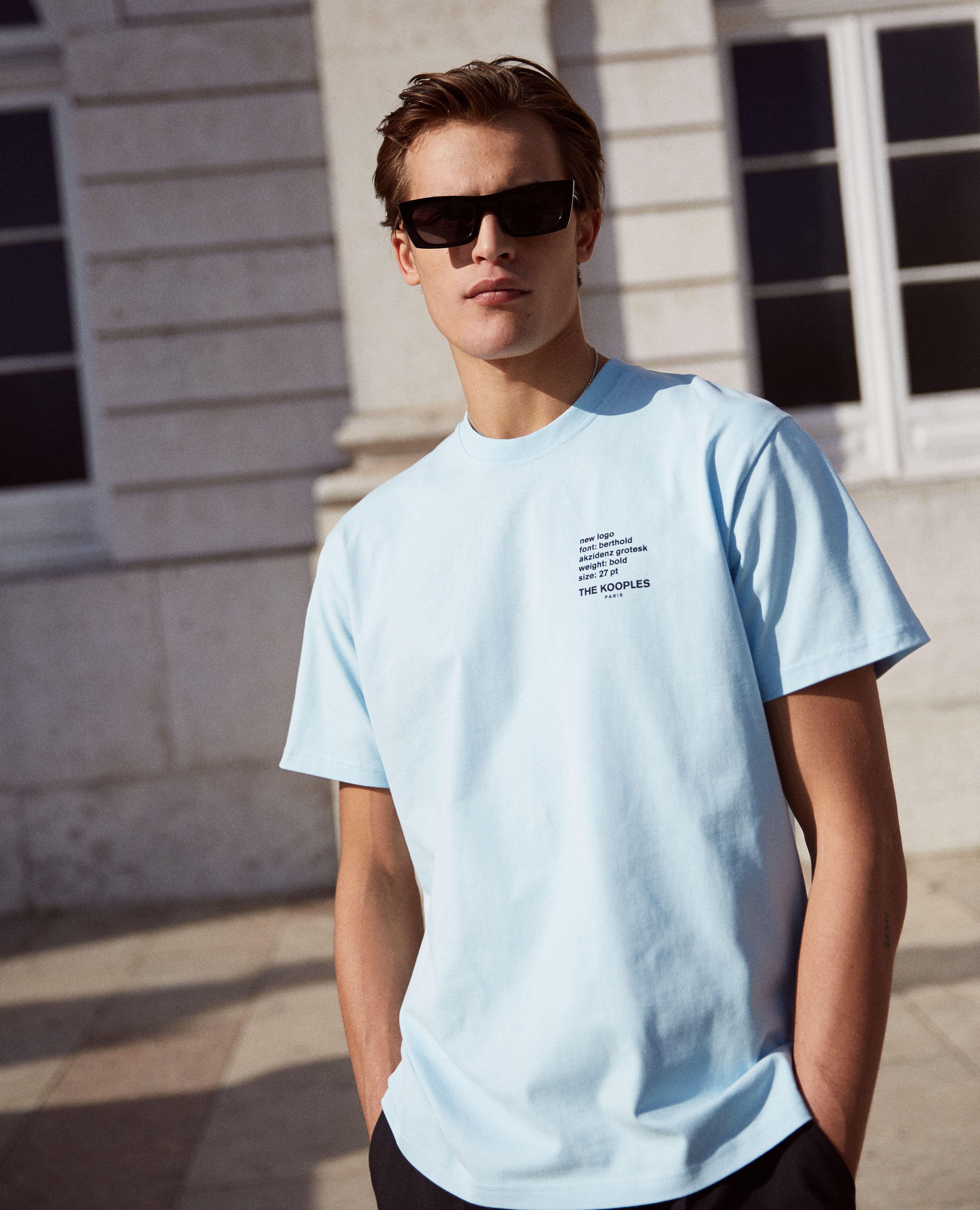 Essentials Loose-fit Short-Sleeve Stripe Crewneck T-Shirts Homme lot de 2