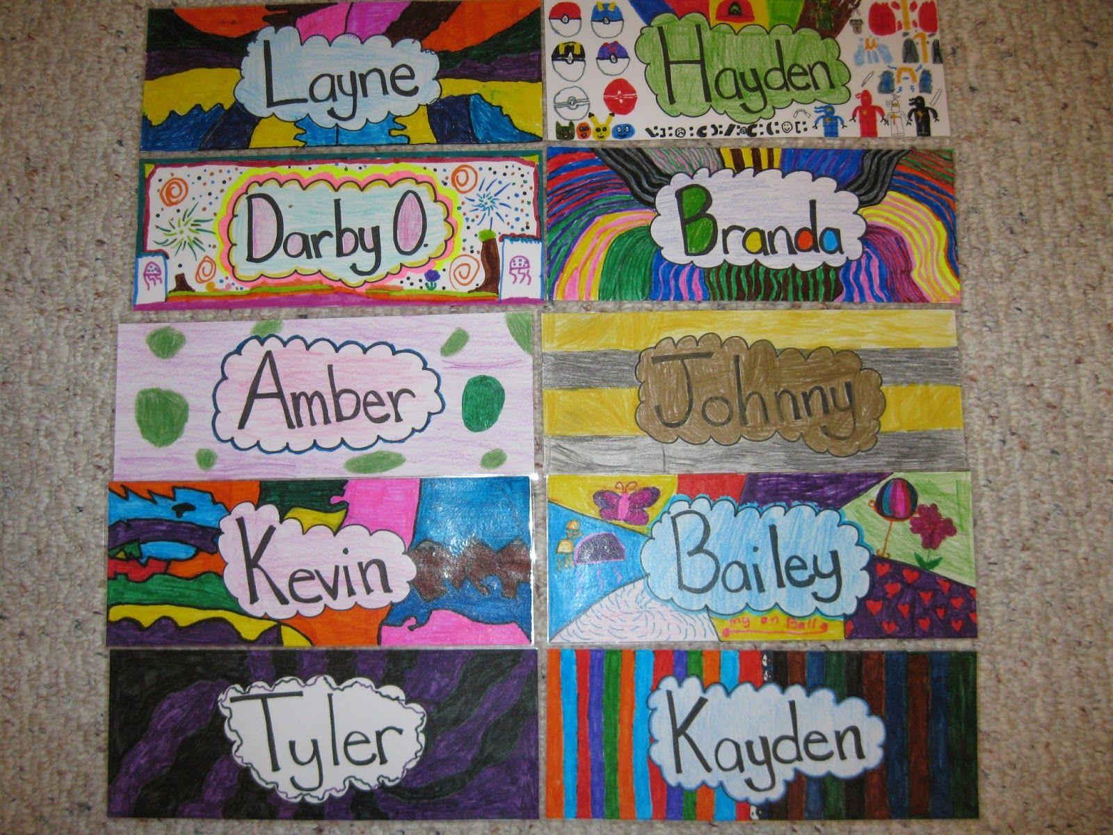 Terri's Teaching Treasures Creative name tags for back to