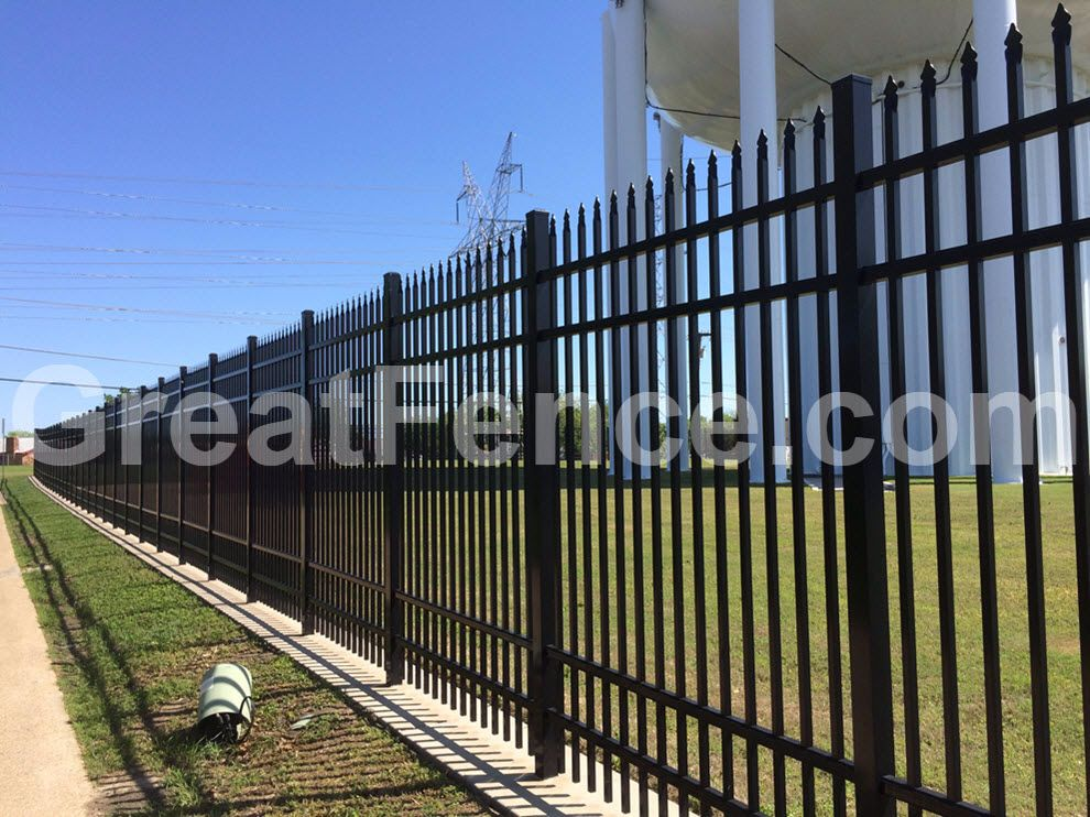 Pin By Greatfence Com On Metal Security Fencing Metal Fence