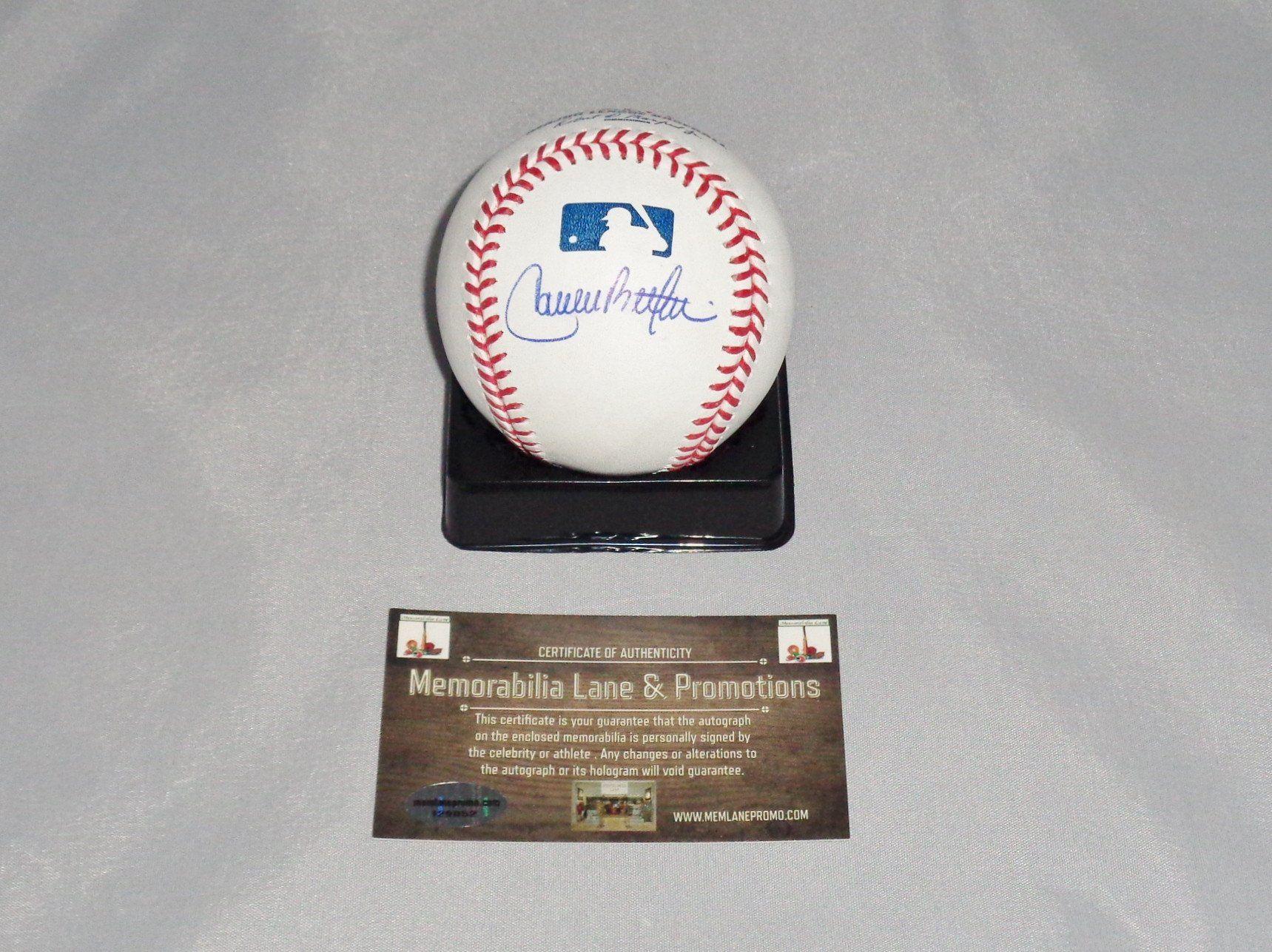 Carlos Beltran Astros Autograph Oml Baseball Coa Memorabilia