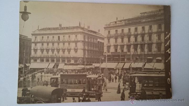 TARJETA POSTAL MADRID PUERTA DEL SOL GRAND HOTEL DE LA PAIX - NO CIRCULADA, ESCRITA 1911 - Foto 1