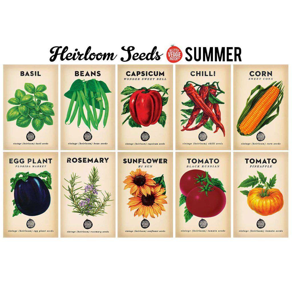 Summer heirloom seeds