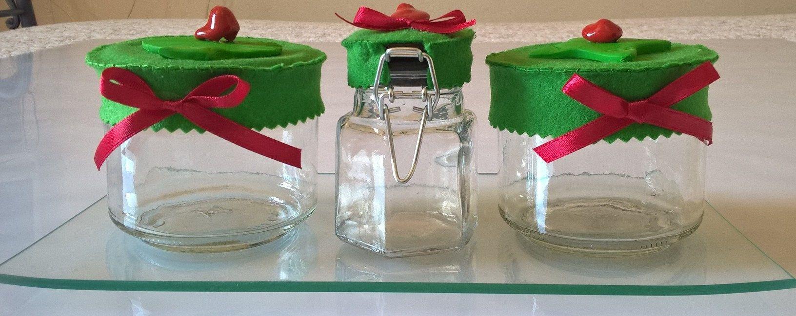Vasetti barattoli per spezie decorati con portavasetti in vetro da ...