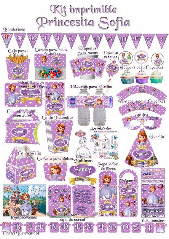 Kit Imprimible Princesita Sofia Todo Para Tu Cumpleaños! - $ 50.00 en MercadoLibre