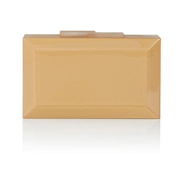 Rauwolf Women's Emerald-Cut Minaudière (£785) ❤ liked on Polyvore featuring bags, handbags, clutches, gold, imitation handbags, faux-leather handbags, beige handbags, beige clutches and faux purses