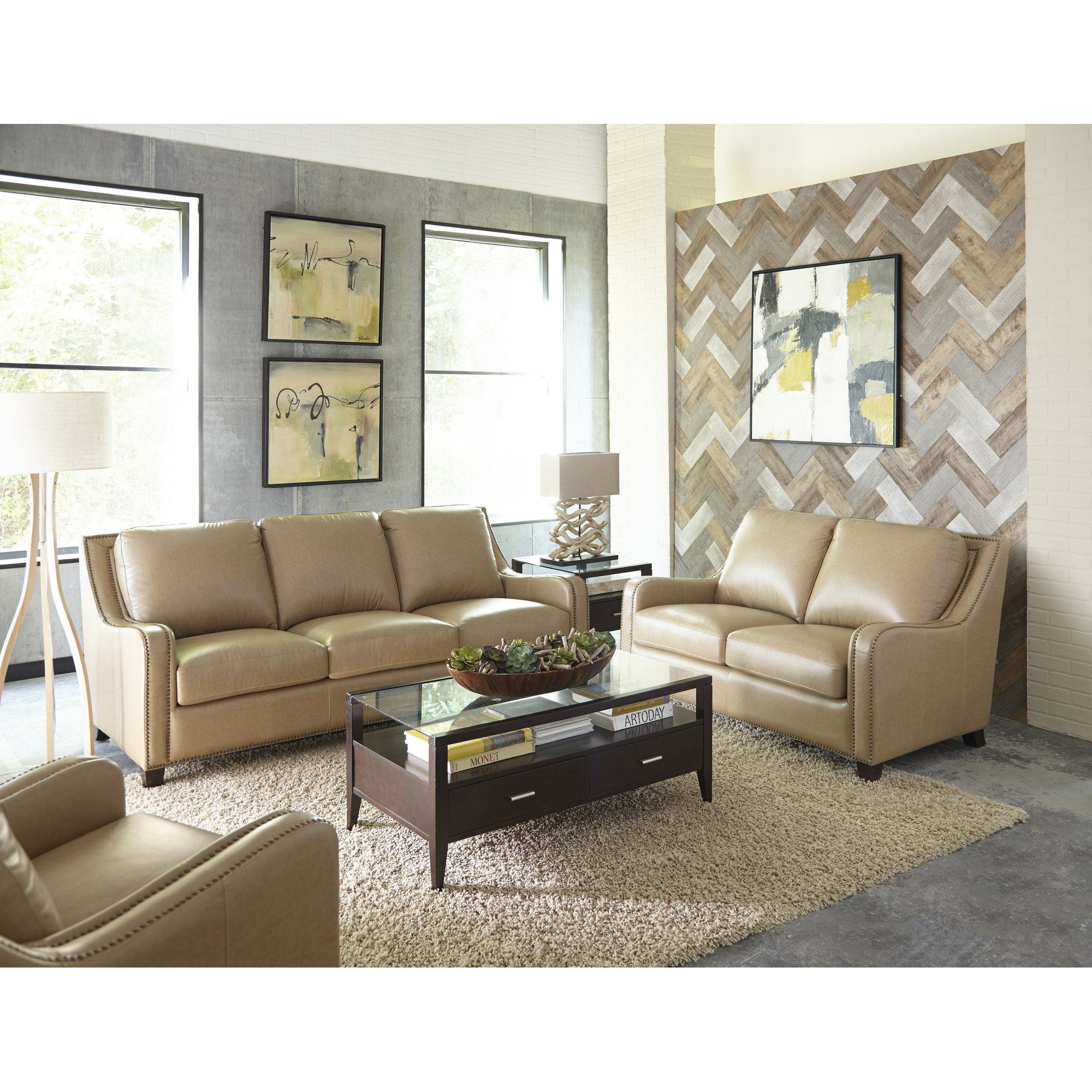 Cheap Living Room Furniture Stores: Denver Leather Sofa