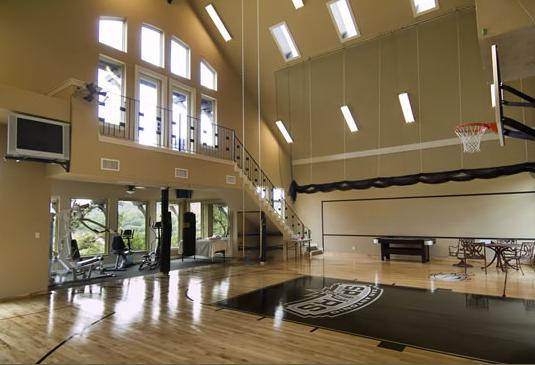 Nice Home Gym Design Home Basketball Court At Home Gym