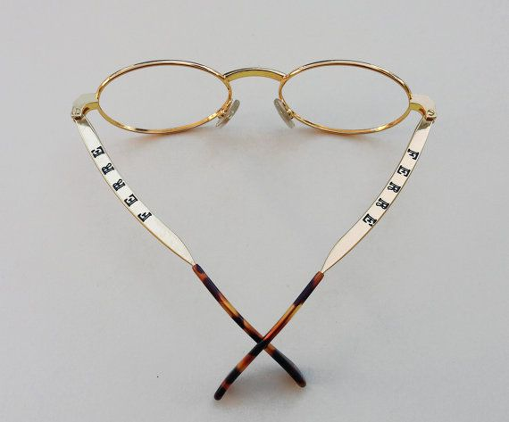gianfranco ferre vintage frames golden oval eyeglasses gold filled ferr glasses oval round shaped optical italian designer frame