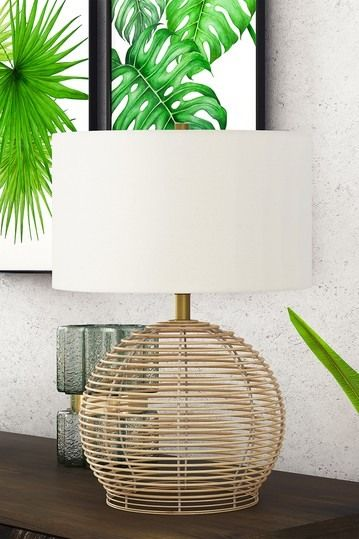 Addison And Lane Bryn Table Lamp Rattan Nordstrom Rack Bohemian Table Lamps Beige Table Lamps Table Lamp