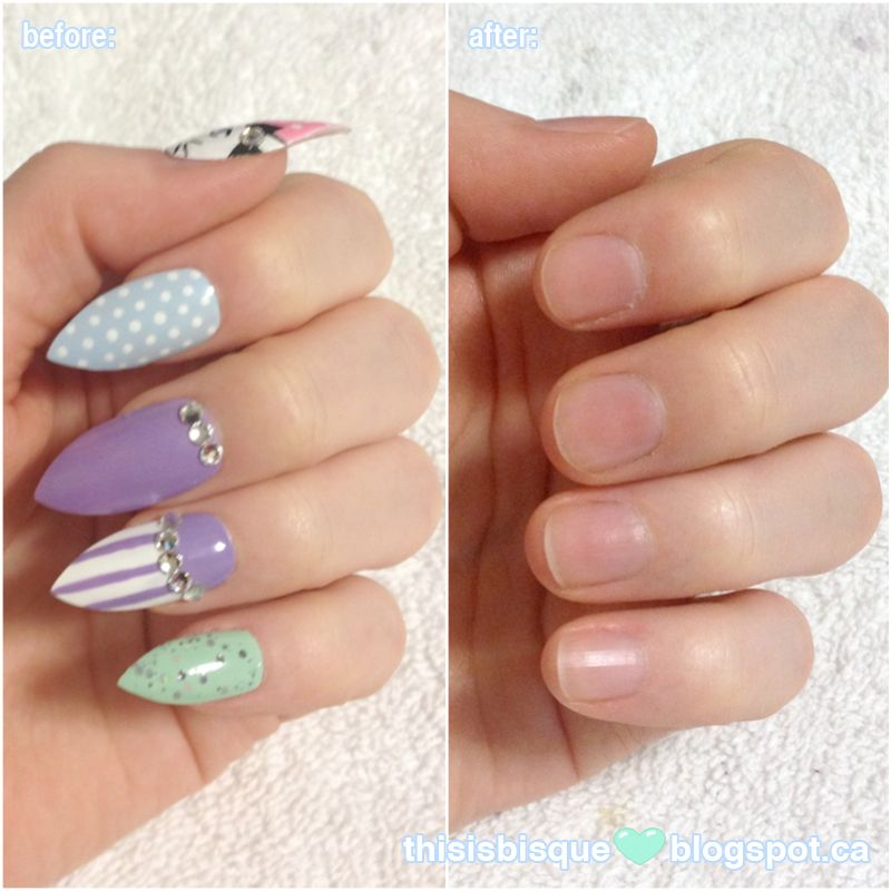 This is Bisque: Tutorial | How I Remove My Fake Claws (False Nails ...