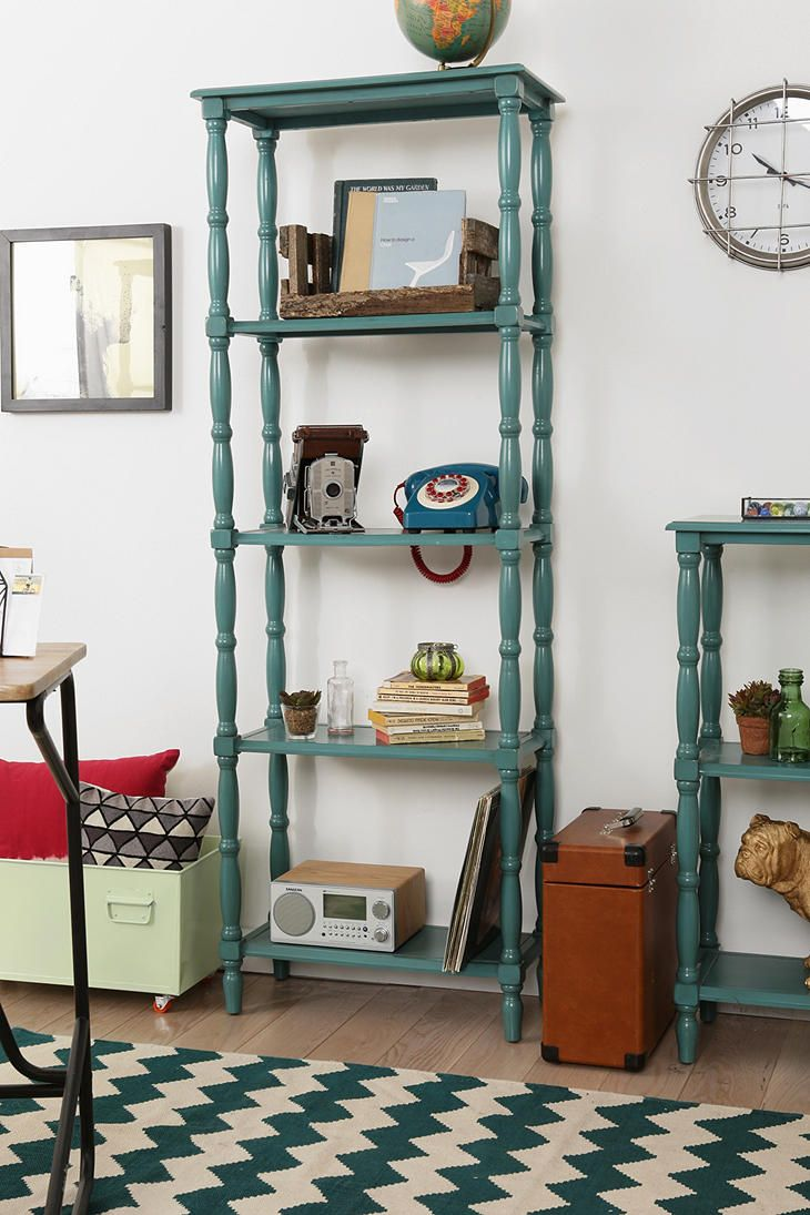 Margot Tall Spindle Bookcase Bookcase Apartment