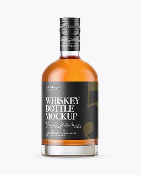 Whisky Bottle With Shrink Band Mockup In Bottle Mockups On Yellow Images Object Mockups Mockup Free Psd Bottle Mockup Free Packaging Mockup