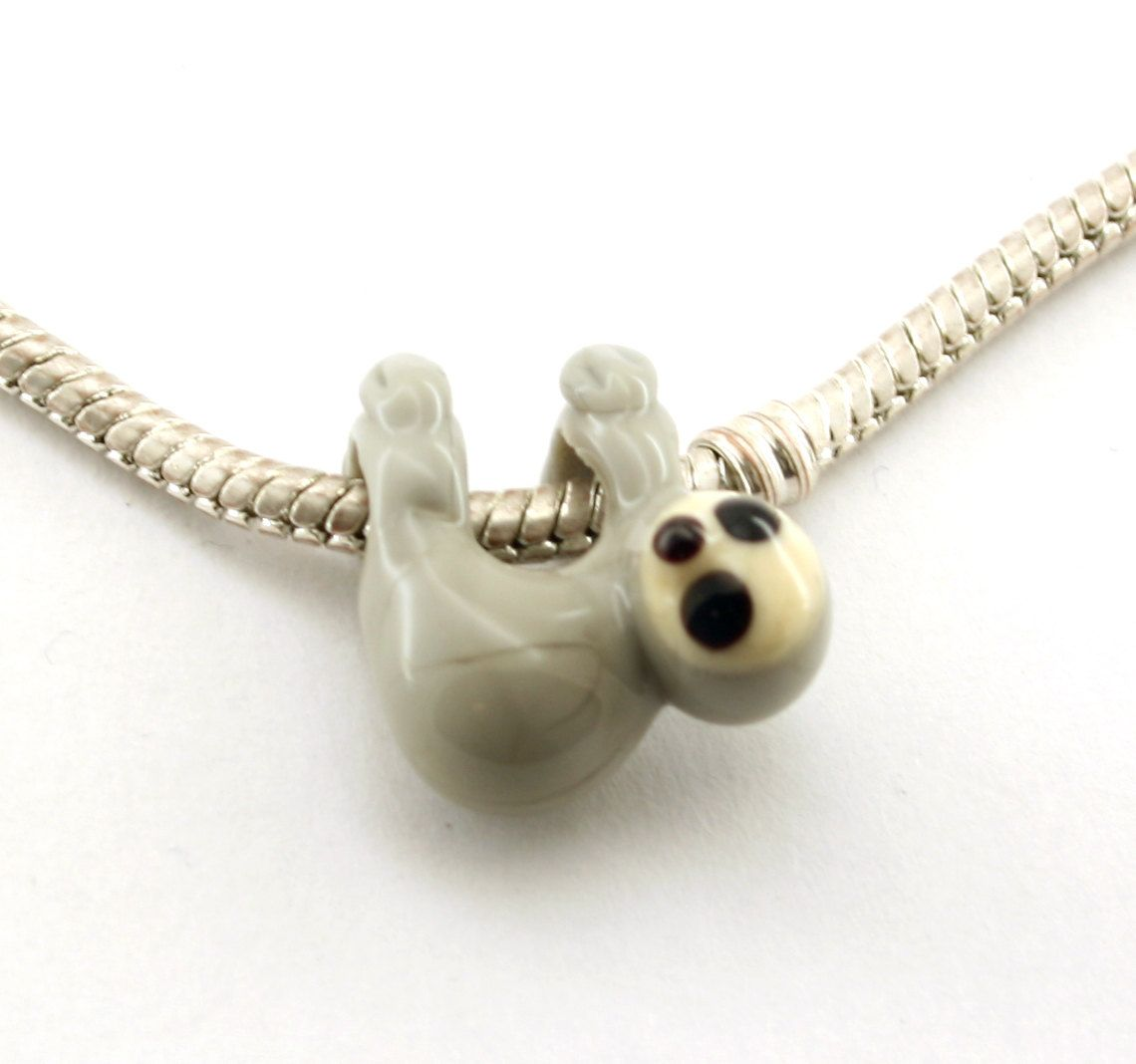 pendant sloth hanging silver necklace p solid asp jewellery stunning handmade unique