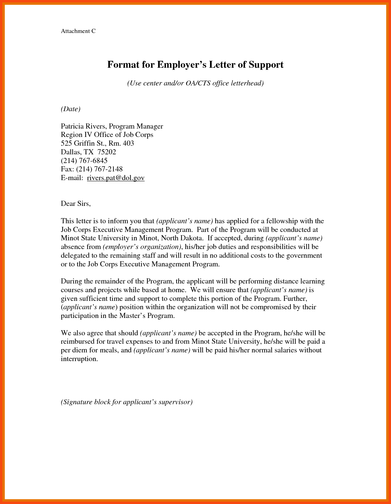 Business Letter Format Attachment Program Example  Home Design