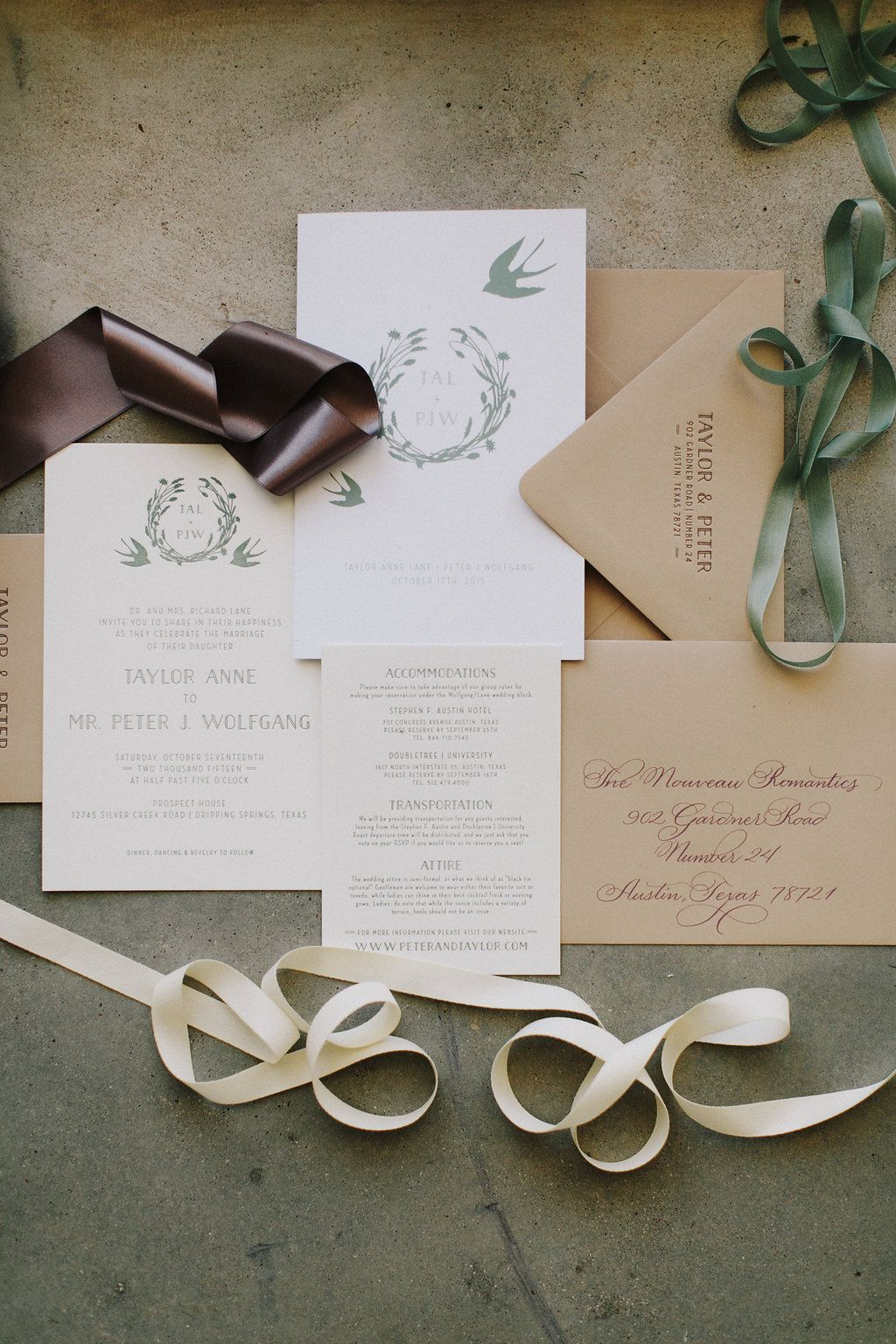 Custom Wedding Invitation Suite | Laid Back Texas Hill Country ...