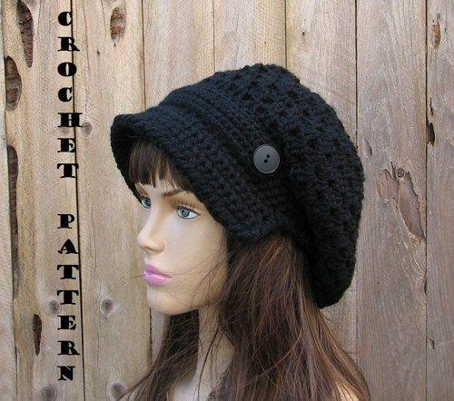 Crochet Newsboy Hat Pattern - Crochet Pattern PDF 8c00b943d07f