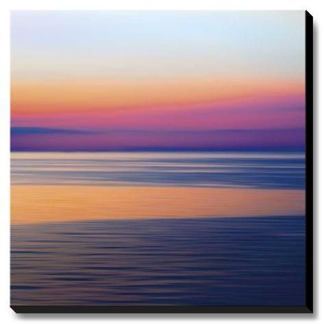 Stretched Canvas Print Colorful Horizons Iii By John Rehner