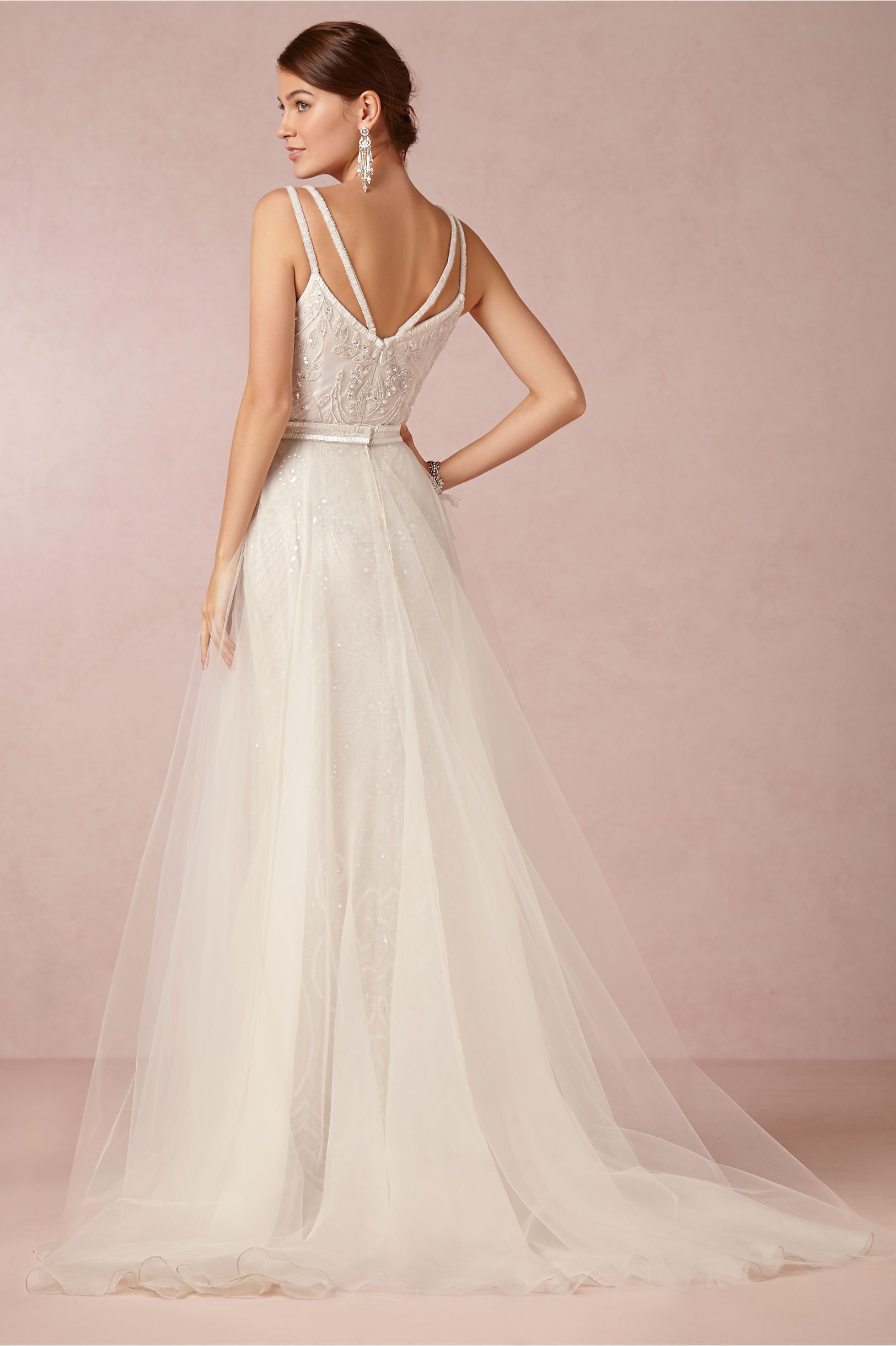 Elsa Gown From BHLDN This Overskirt With The Sparklies Underneath