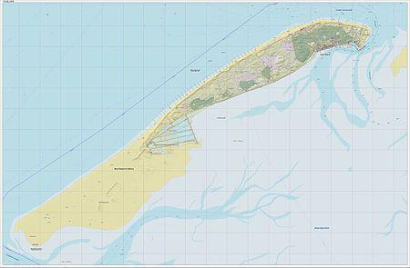 Netherlands Topographic Map.Vlieland Topographic Map West Frisian Islands Netherlands