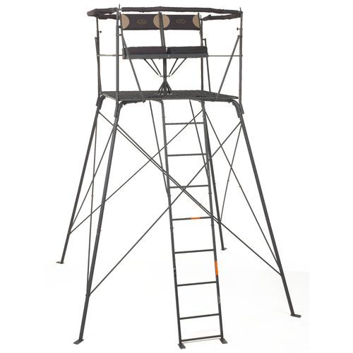 Game Winner 174 2 Person Quad Rotating Treestand Hunting