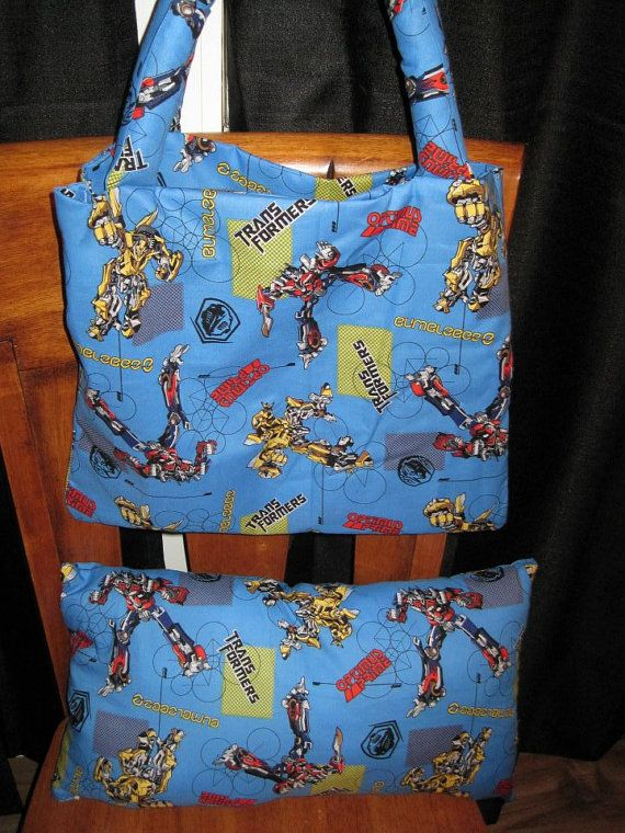 Transformers Going to Grandma's Tote and Pillow Set  Can by TOTERS, $30.00