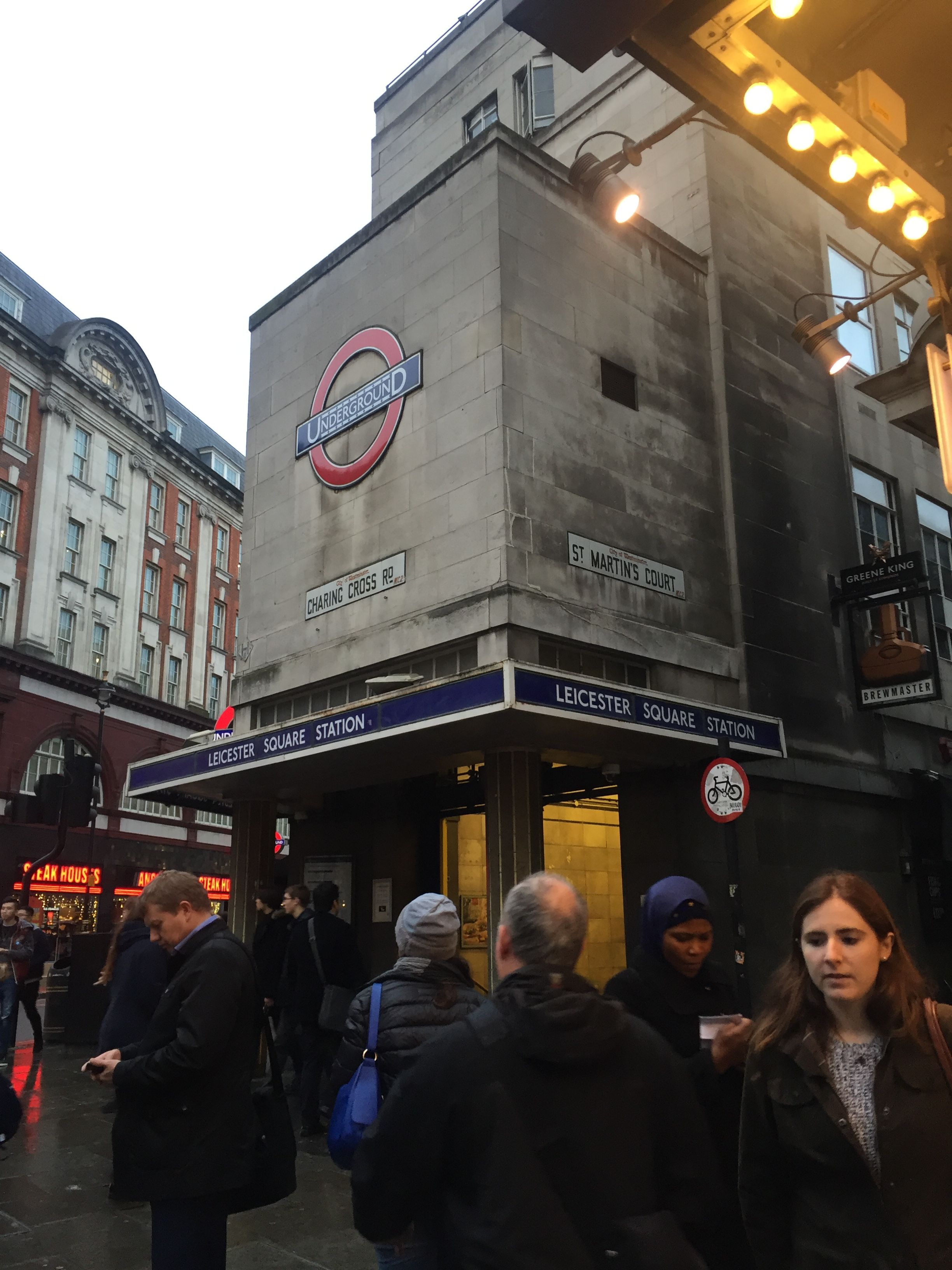 Leicester Square tube station, London